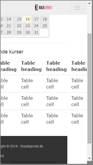 bootstrap 3 table