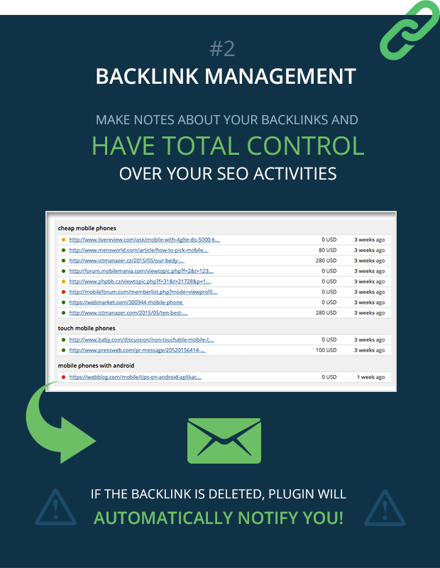 backlink management feature