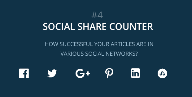 social share counter feature